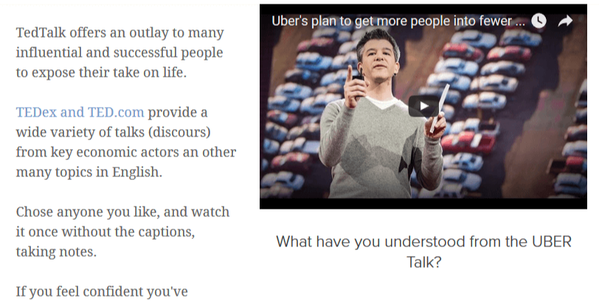 quiz ted talk uber